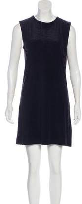 Equipment Silk Sleeveless Mini Shirt Dress