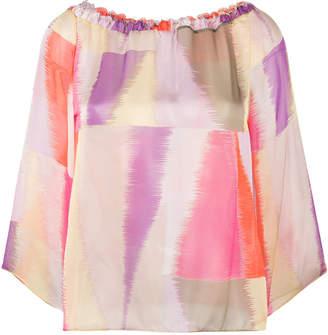 Kristina Ti printed 3/4 sleeve blouse