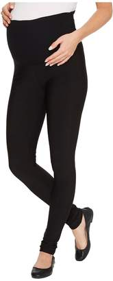 Plush Maternity Fleece-Lined Matte Spandex Leggings Women's Clothing