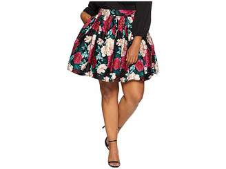 Unique Vintage Plus Size 1950s Style Lupone Skater Skirt