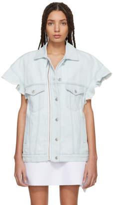 MSGM Blue Denim Ruffles Jacket