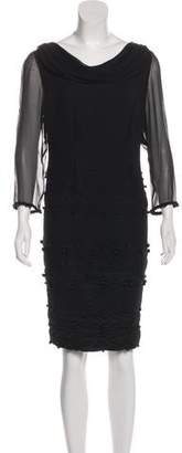 Valentino Knee-Length Pom-Pom Dress