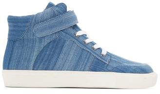 La Redoute Collections Denim High Top Trainers