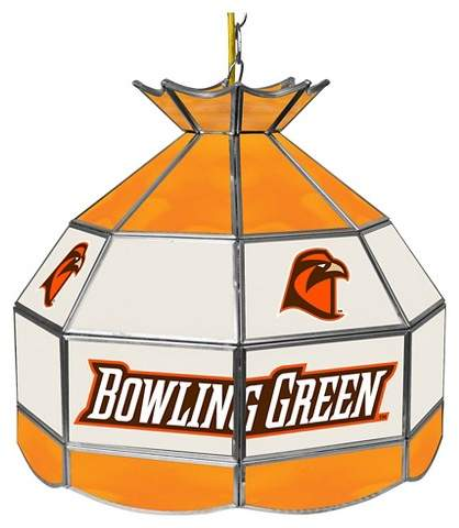 Bowling Green St. Falcons Tiffany Style Lamp - 16