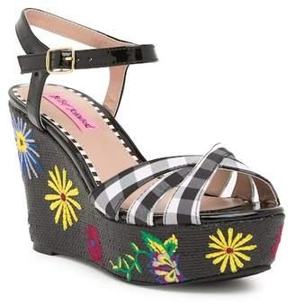 Betsey Johnson Traci Platform Wedge Sandal