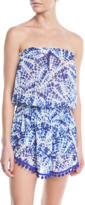 Ramy Brook Marcie Printed Strapless Coverup Dress