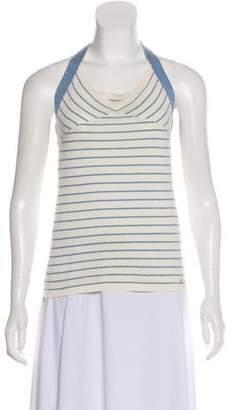 Chanel Striped Halter Top
