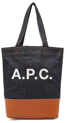 A.P.C. Axel Japanese Denim Tote Bag - Womens - Indigo
