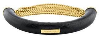 Michael Kors Leather & Chain Bracelet