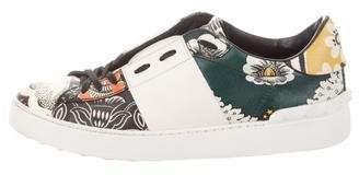 Valentino Leather Rockstud Sneakers