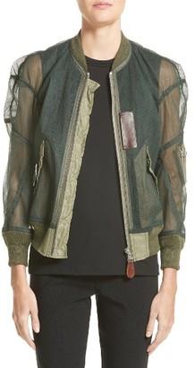 Women's Junya Watanabe Tulle Bomber Jacket $1,295 thestylecure.com