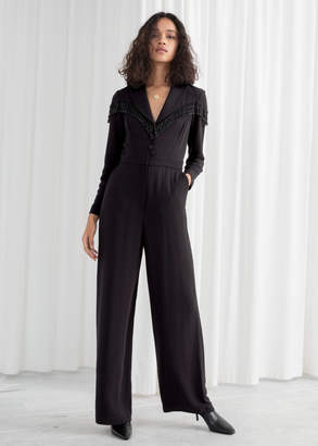 And other stories Beaded Long Sleeve Jumpsuit