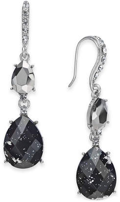 INC International Concepts I.N.C. Hematite-Tone Crystal Foil Drop Earrings, Created for Macy's