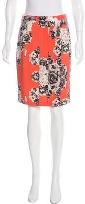 Yoana Baraschi Floral Print Pencil Skirt