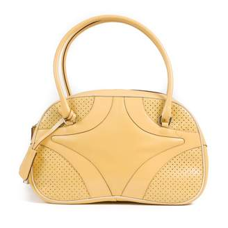 Prada Yellow Leather Handbag