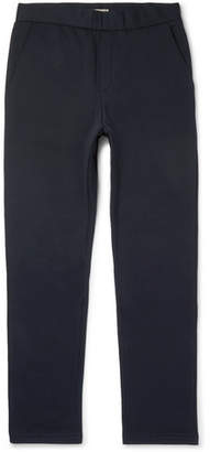 Bottega Veneta Tapered Intrecciato Leather-Trimmed Cotton And Wool-Blend Sweatpants