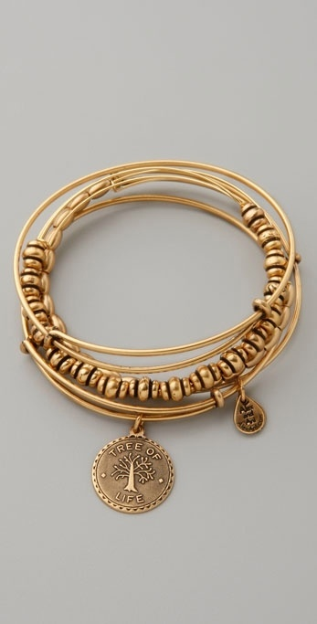 Alex And Ani Tree of Life Expandable Bangle Set