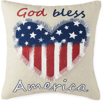 JCPenney JCP HOME Home God Bless America Square Throw Pillow