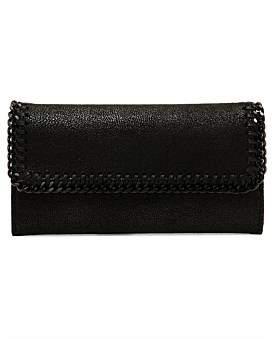 Stella McCartney Continental Wallet Black Chain Falabella