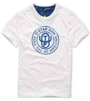 G Star Raw Men's Uniform Of The Free Logo Graphic T-Shirt