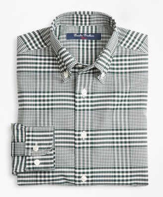 Brooks Brothers Boys Non-Iron Supima Cotton Double Gingham Sport Shirt
