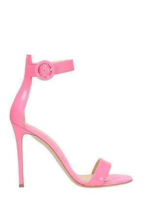 Lerre Pink Patent Leather Sandals