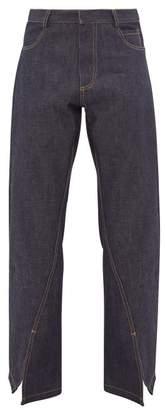 Bianca Saunders - Reverse Split Hem Jeans - Mens - Indigo