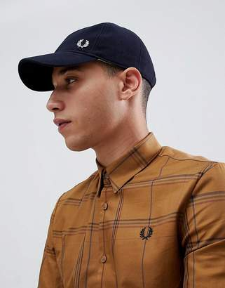 Fred Perry pique classic cap in navy