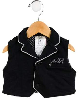 Armani Junior Boys' Knit Button-Up Vest