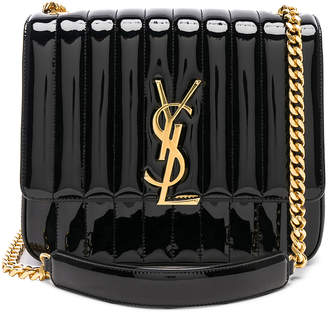 Saint Laurent Large Patent Monogramme Vicky Chain Bag