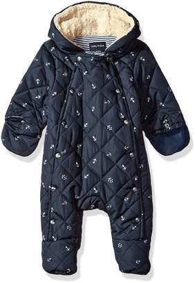 Nautica Baby Boys' Quilted Sherpa Lined Snowsuit