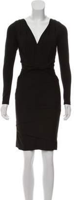 Nicole Miller Long Sleeve Mini Dress Black Long Sleeve Mini Dress