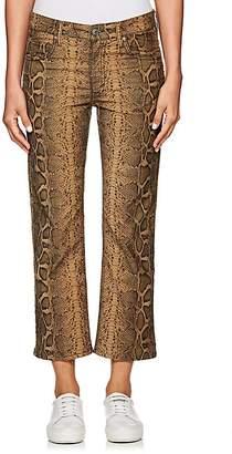 Etoile Isabel Marant Women's Apolo Snakeskin-Print Corduroy Jeans