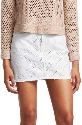 Jonathan Simkhai Eyelet Denim Mini Skirt