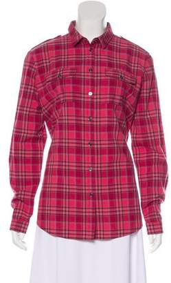 Burberry Collar Button-Up Top