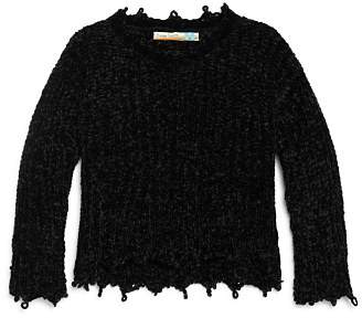 Vintage Havana Girls' Chenille Sweater - Big Kid