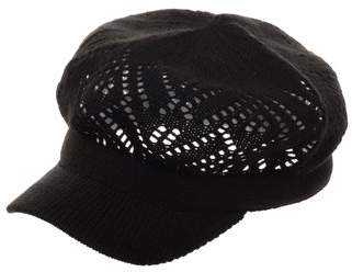 59862b8fddeca at Walmart.com · Time and Tru Women s Black Acrylic Knitted Cadet Cap