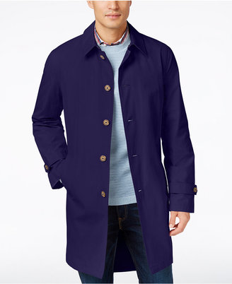 Tommy Hilfiger Men's Finn Solid Raincoat $350 thestylecure.com