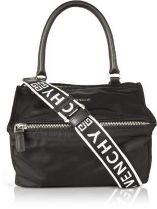 Givenchy Black Nylon Pandora Small Satchel Bag w/4g strap