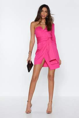 Nasty Gal Kinda Into It One Shoulder Dress