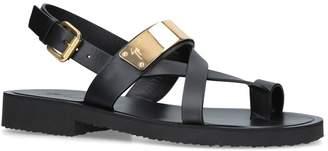 Giuseppe Zanotti Leather Cross Sandals
