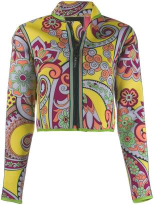 Etro printed cropped jacket