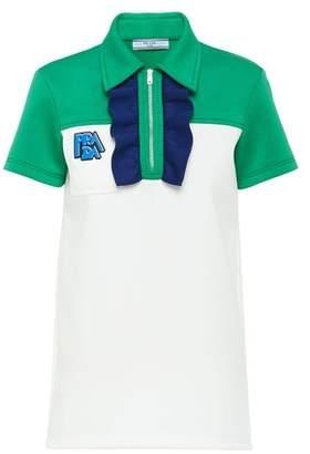 Prada Technical Jersey Polo Shirt With Ruching