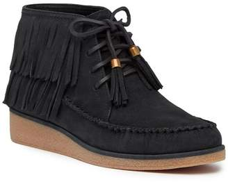 UGG Caleb Leather Wedge Bootie