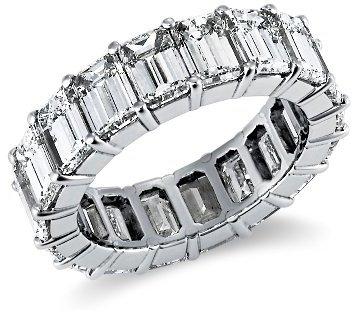 Emerald Cut Diamond Eternity Ring in Platinum (9.72 ct. tw)