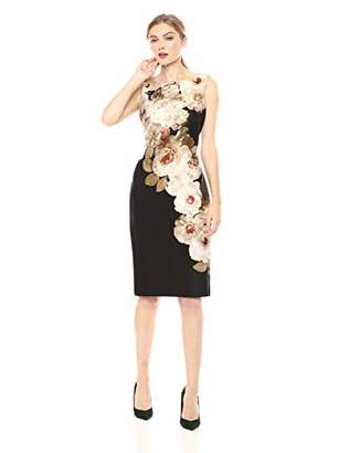 e7f1bb056a1 Calvin Klein Women s Sleeveless Round Neck Sheath Dress