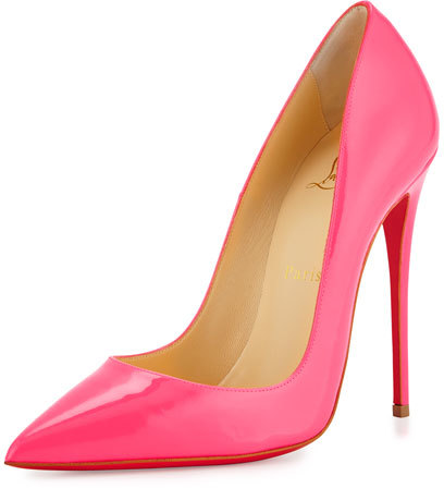 Christian Louboutin  Christian Louboutin So Kate Patent 120mm Red Sole Pump, Shocking Pink