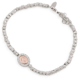 Made In Italy Sterling Silver Cz Madonna Bracelet