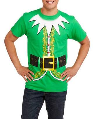 Holiday Christmas Men's Elf Suit Graphic Tee