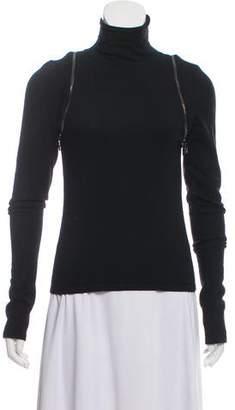 Versace Wool Rib Knit Turtleneck